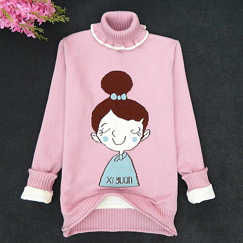 13小学生15中大童女装冬装冬季毛衣加厚羊绒衫套装10岁12羊毛衫11