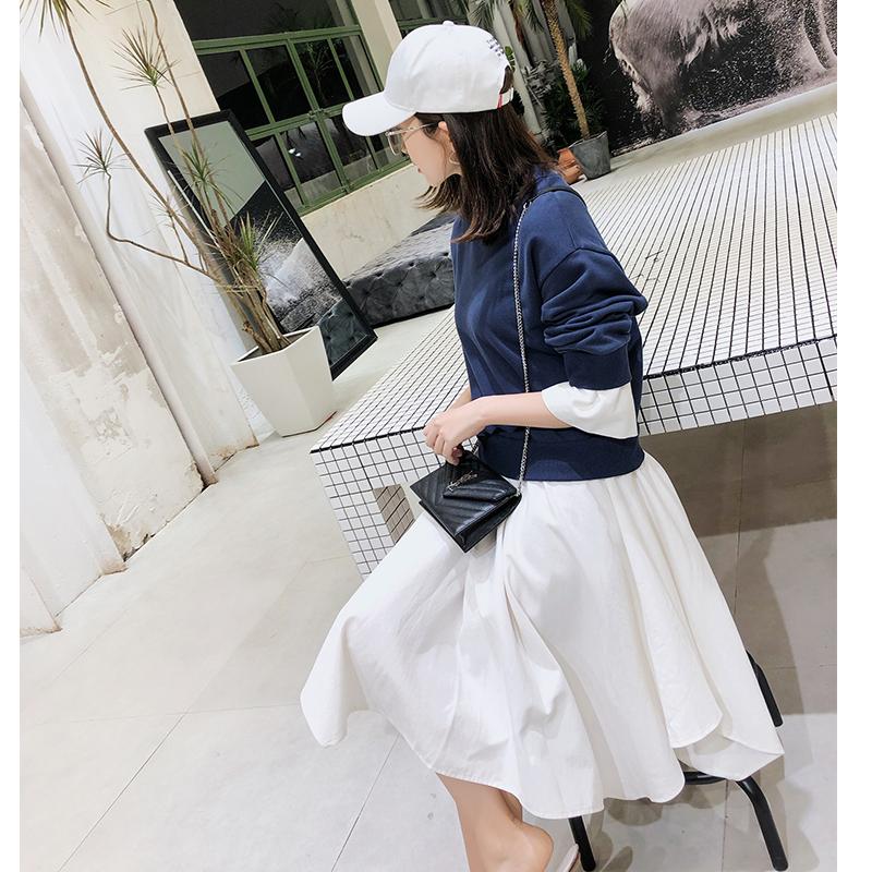 辰子CICY7.28高品质卫衣名媛气质假两件显瘦长袖连衣裙女装138