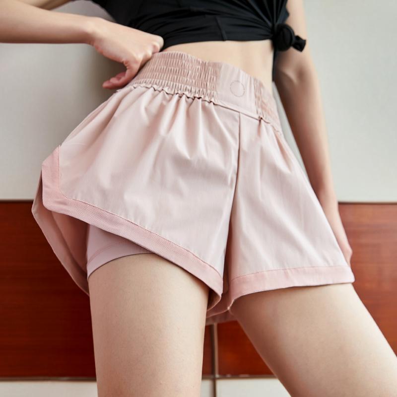 运动短裤女防走光宽松高腰速干透气训练跑步外穿夏季健身瑜伽裤图片