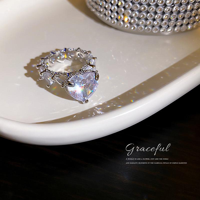 中國代購|中國批發-ibuy99|戒指|messy欧美时尚夸张镶钻爱心戒指超闪满钻指环个性网红气质设计感