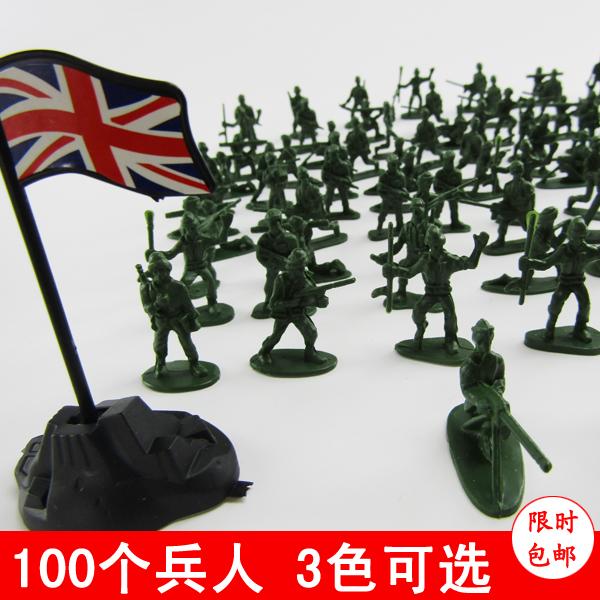 Бесплатная доставка два солдат солдаты модель война борьба сцена воспоминания военный игрушка солдат человек весь пакет 100 месяцы 80 после подарок