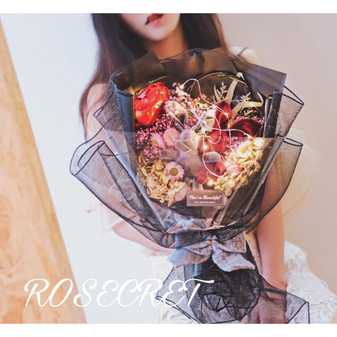 Желая кролик букет танабата день святого валентина подарок сухие цветы вечная жизнь цвести звезда подарок полный промышленность день рождения женщина друг