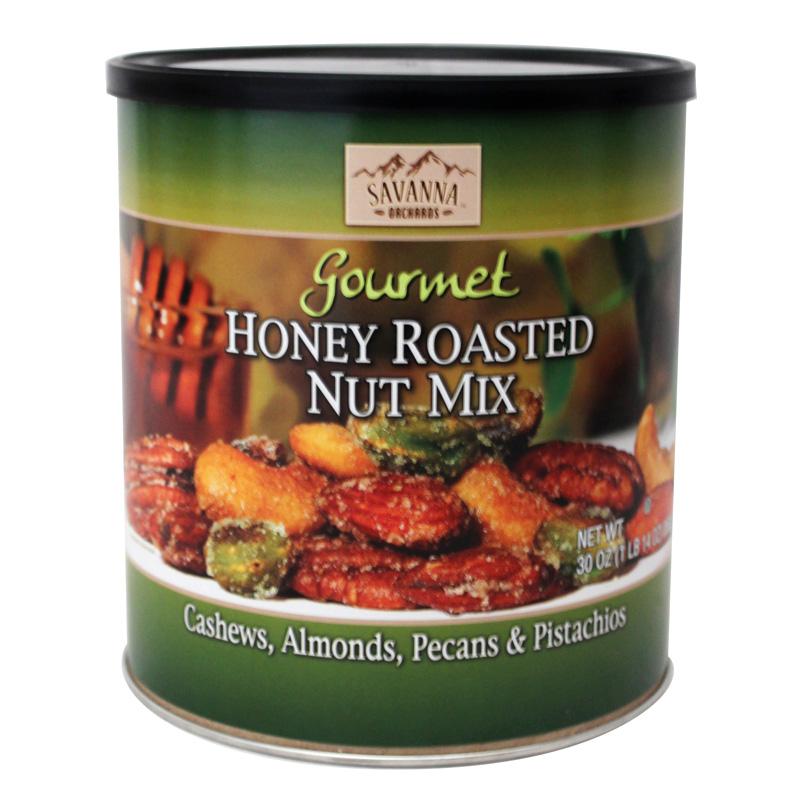 包邮美国Savanna HONEY ROASTED NUT MIX 蜂蜜香烤混合坚果850g
