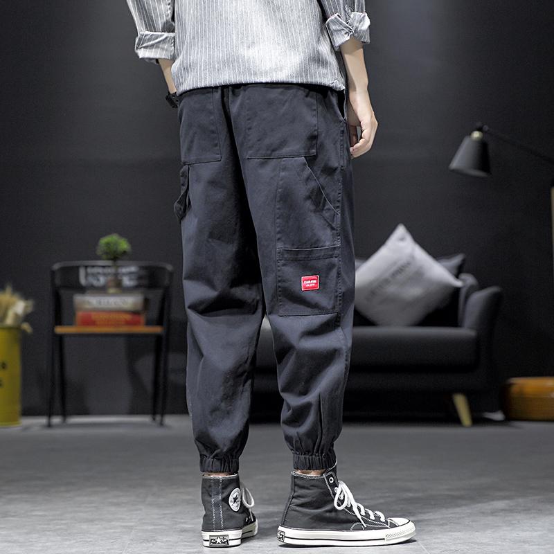 2019 秋季新款 日系内景大码贴标休闲裤M-5X HK1989-P50