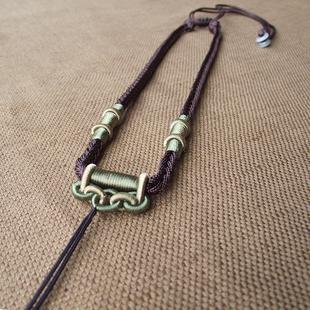 原创翡翠玉佩项链绳子挂件颈链手工编织金字塔挂脖女男款吊坠挂绳