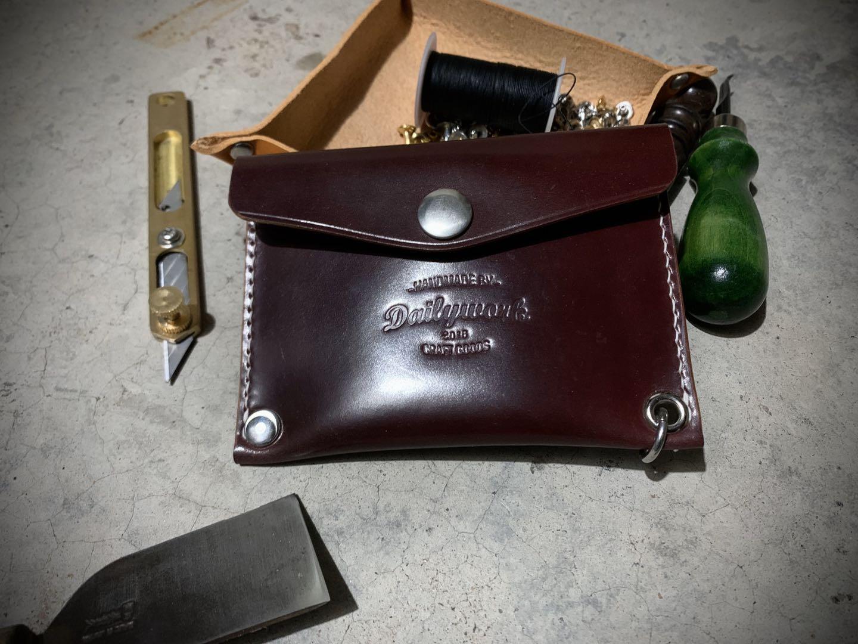 Dailywork classic American retro card bag horse hip pickup bag horse hip leather purse