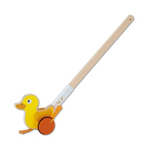 Hape yellow duck push, musician push, single pole baby push, walk, walk, push, pull, push children's toys