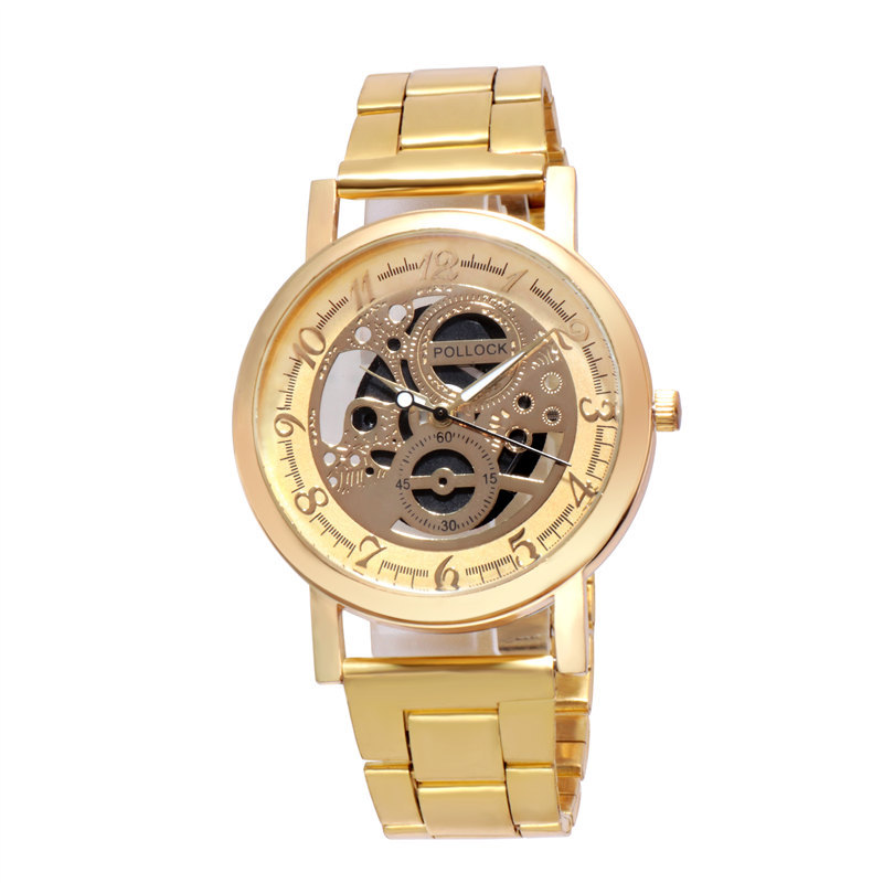 Trendy steel band cutout boutique fashion cutout steel band Watch couple watch mens and womens Watch