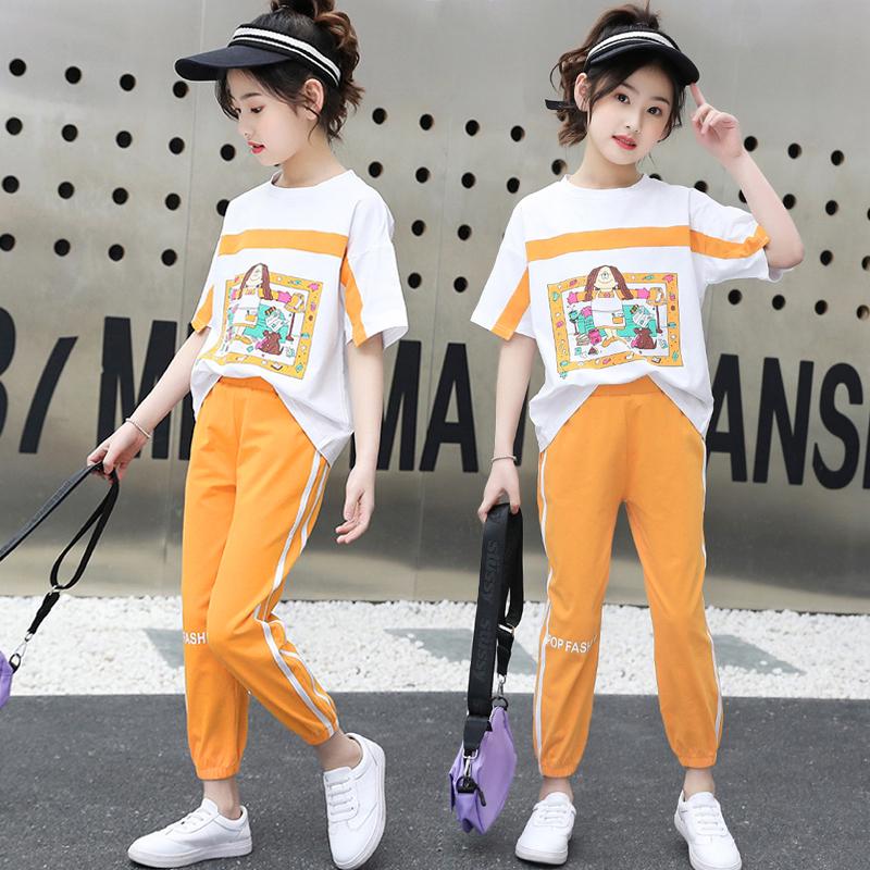 女童夏装2021新8洋气9大童运动10
