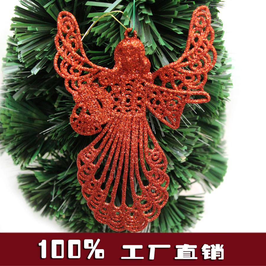 圣诞节装饰品金粉塑料彩色天使精灵小挂件出口外贸原单厂家直销
