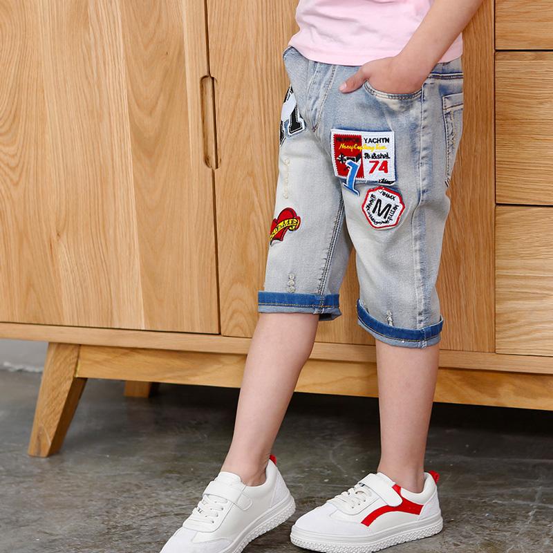 男童牛仔中裤短裤儿童裤子夏装薄款宝宝五分裤宽松马裤夏季沙滩裤
