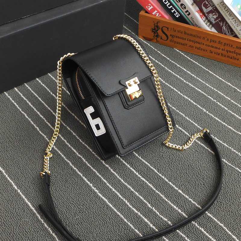 New fashion mobile phone bag Korean version net red small black bag with versatile texture