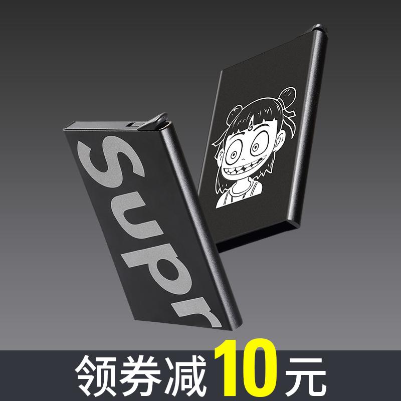 自動ポップアップ式の金属カードの包みの男性の銀行のカードの箱の極めて薄い磁気を防いで盗難防止します。