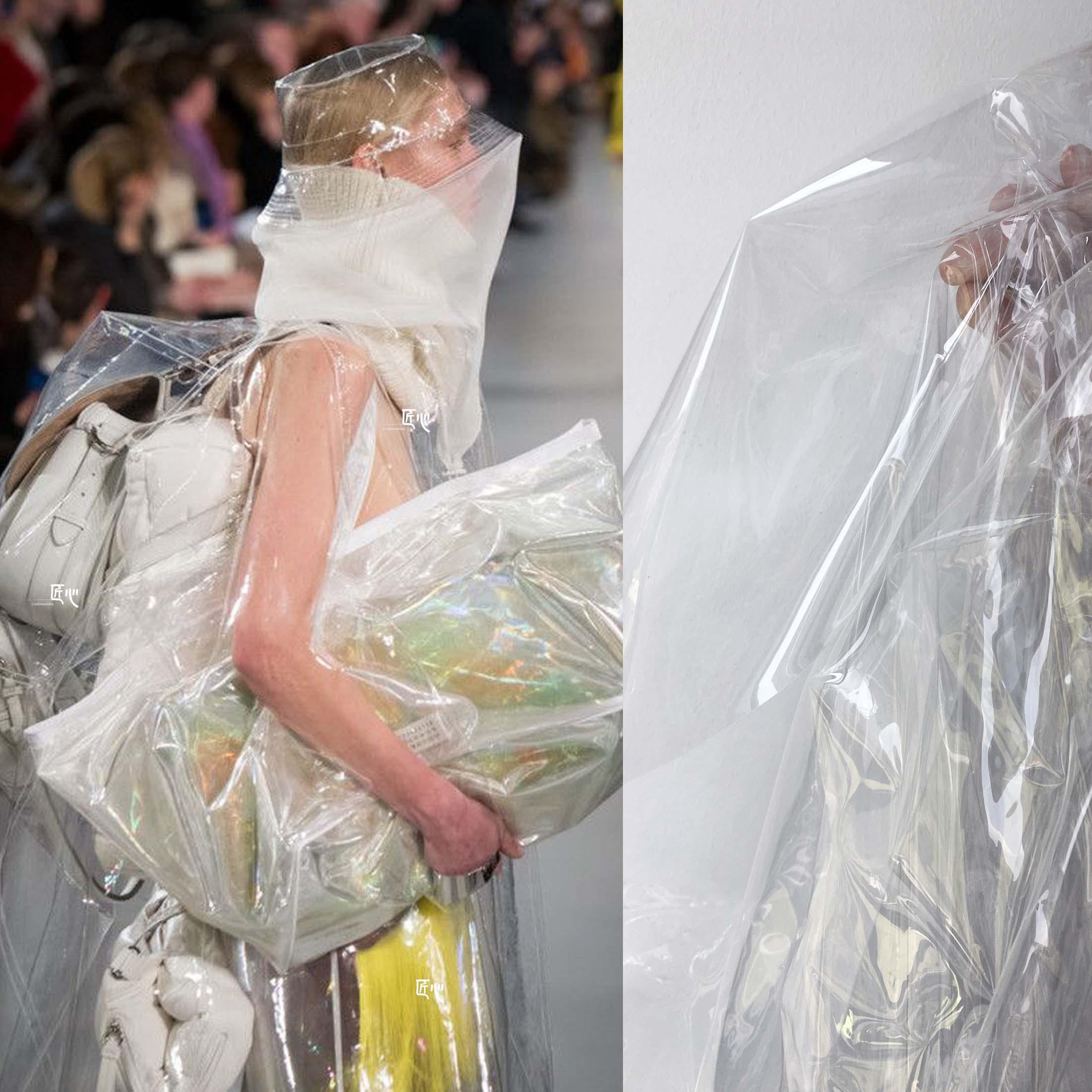 全透明tpu面料服�b�L雨衣薄膜防水塑料�O���面料包包透明布料