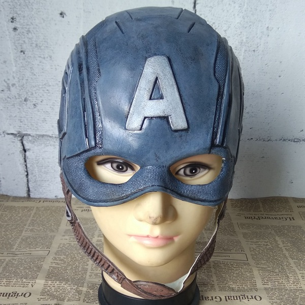 Us captains head cover latex simulation film viewing surrounding role-playing props animation cos Halloween Costume
