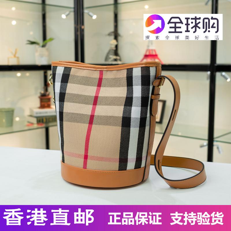韩国东大门dr时尚格子水桶包2019新款网红单肩斜挎女士大容量包包