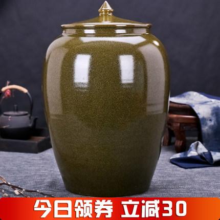景德镇陶瓷米缸酒坛水缸油缸20斤30斤50斤100斤200斤 防潮防虫