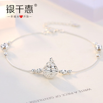 2018 New Bell Palace Bell 925 sterling silver Foot chain female Korean version simple sexy fashion student sen system has sound