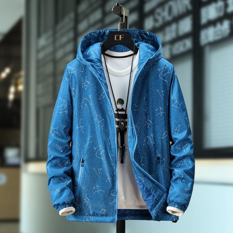 Autumn and winter large light cotton jacket mens jacket fat man simple large cotton jacket plus fat fat man short coat