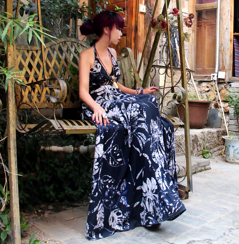 (用232.1元券)度假裙ins超火棉绸连衣裙年轻款吊带长裙到脚踝长款显瘦超长气质