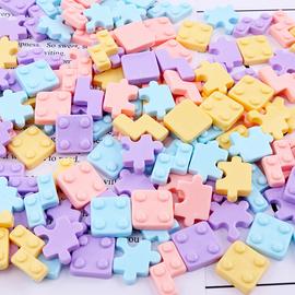 仿真俄罗斯方块diy手机壳仿真奶油胶材料包手工自制制作树脂配件图片