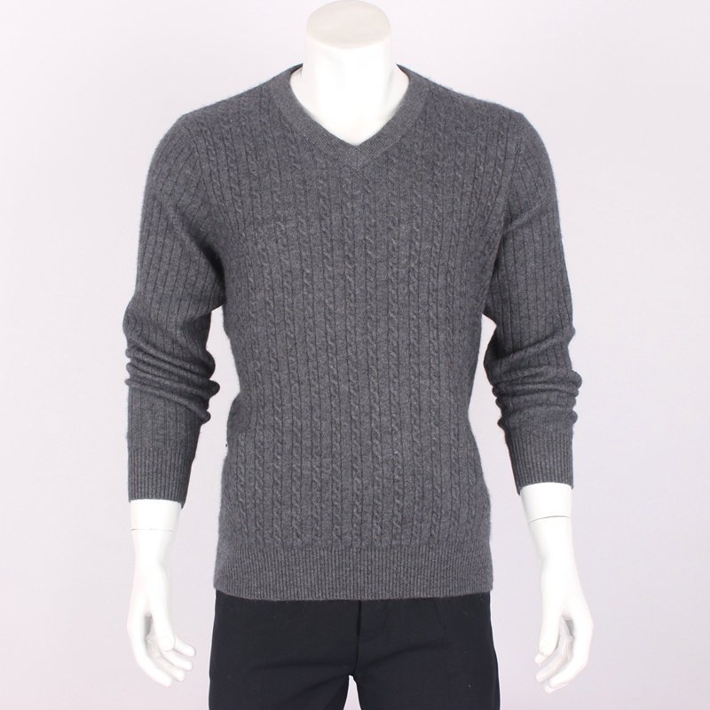 New slim fit mens cashmere sweater Pullover Jixin V-neck knitted sweater from Ordos City