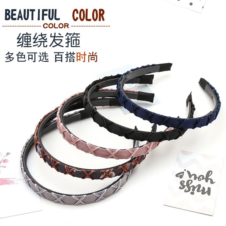 South Korea buyeisen womens hairpin, hairband, anti slip hairband, hairband, hairband, hairband, simple toothed headdress, hairring