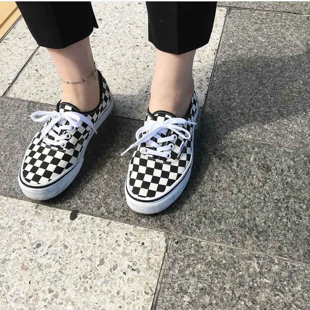 vans authentic aut棋盘格男女鞋限5555张券