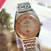年代库存古董收藏80国产腕表青岛产双喜牌手动机械中姓机械手表
