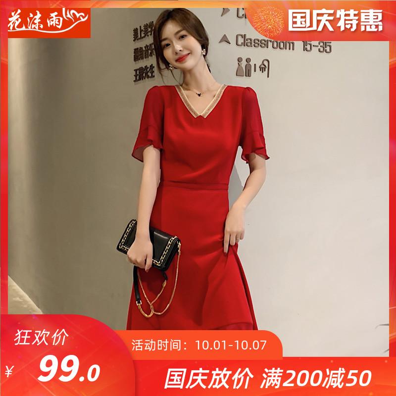 99.00元包邮连衣裙2019新款夏季韩版雪纺裙子