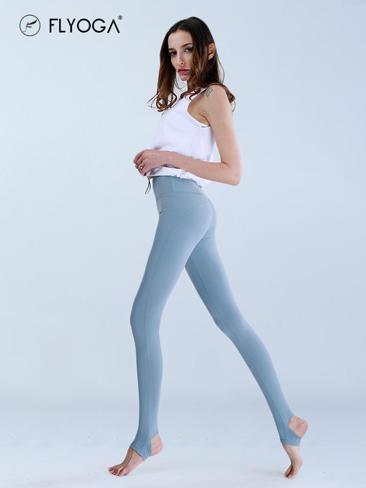 (用1元券)FLYOGA春夏新款瑜伽服女紧身踩脚瑜伽裤薄款速干透气运动健身裤