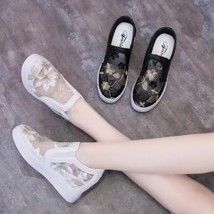 2021新款春夏透气内增高小白鞋单鞋