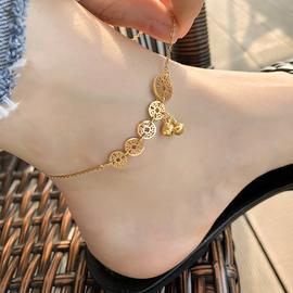 LACELIPS 钛钢脚链不掉色性感个性简约时尚网红铃铛脚链子女款