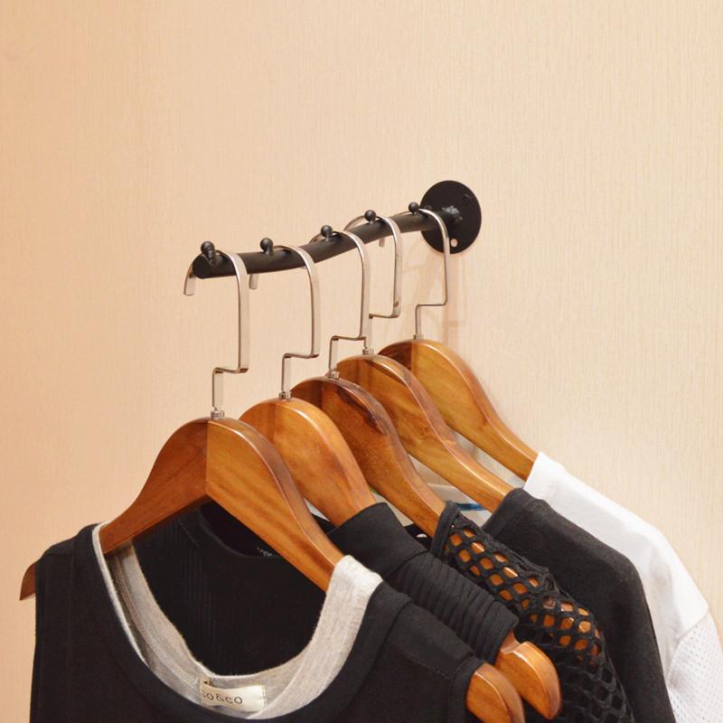 热销0件限时抢购服装店展示架上墙挂钩铁艺壁挂架多件衣服挂服装架点挂单挂正挂架