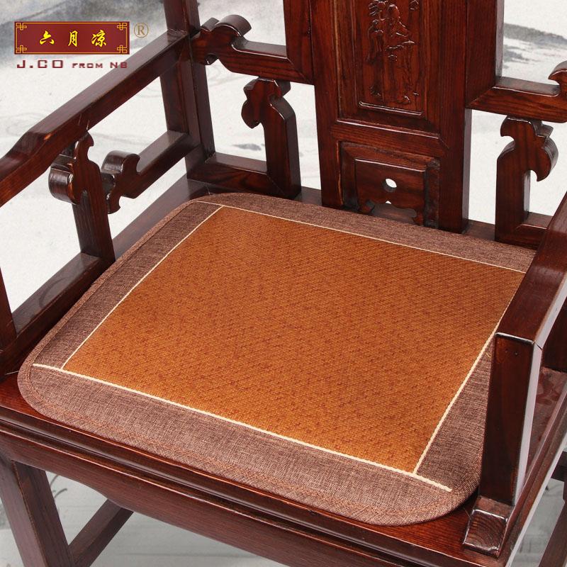 六月凉夏季红木定做凉席沙发沙发垫(非品牌)