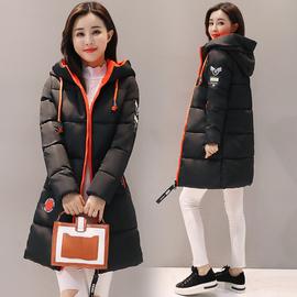 反季特价冬季新款羽绒棉服女大码中长款修身棉衣加厚肩章棉袄外套