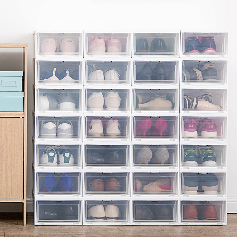 爱丽思家用前开盖鞋盒简易塑料鞋子收纳盒防尘防潮男女鞋盒多个装(用5元券)
