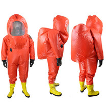 Fully sealed anti-chemical clothing fire-resistant protective clothing anti-acid and alkali chemically liquid ammonia with respirator heavy protective clothing