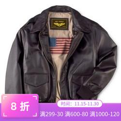 男士真皮皮衣二战经典A2飞行夹克翻领加肥加大夹棉外套