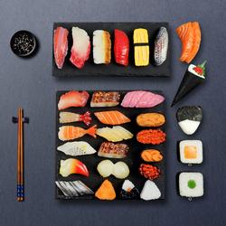 仿真寿司食物模型假料理三文鱼食品道具玩具展示套装家用装饰摆件