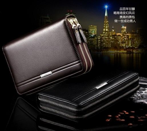 Dunbas - mens handbag leather business large capacity handbag mens business leisure handbag wallet