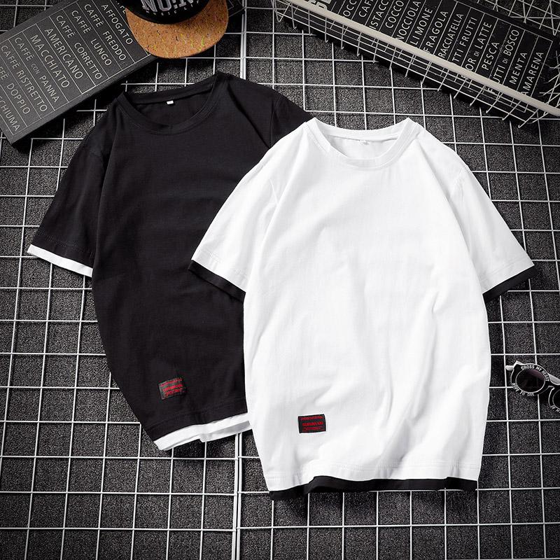 大咖风 电商A088-T19819-P25 95%棉5%氨纶 夏季圆领短袖 T恤修身