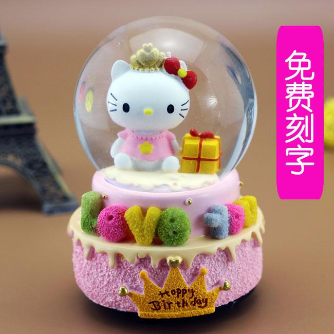 Свет хрустальный шар музыкальная шкатулка шанхай, пекин, тяньцзинь музыкальная шкатулка творческий день рождения подарок мужчина женщина сырье маленький друг подруга ребенок подарок