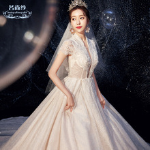 Main Wedding Garment 2019 Bride Tail Mori Princess Dream Simple Court Slender Tremble Net Red Wedding Garment Skirt