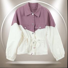 麦诺伊秋冬装2020新款shop1972抽绳相拼外套系带长袖 MR420417002图片