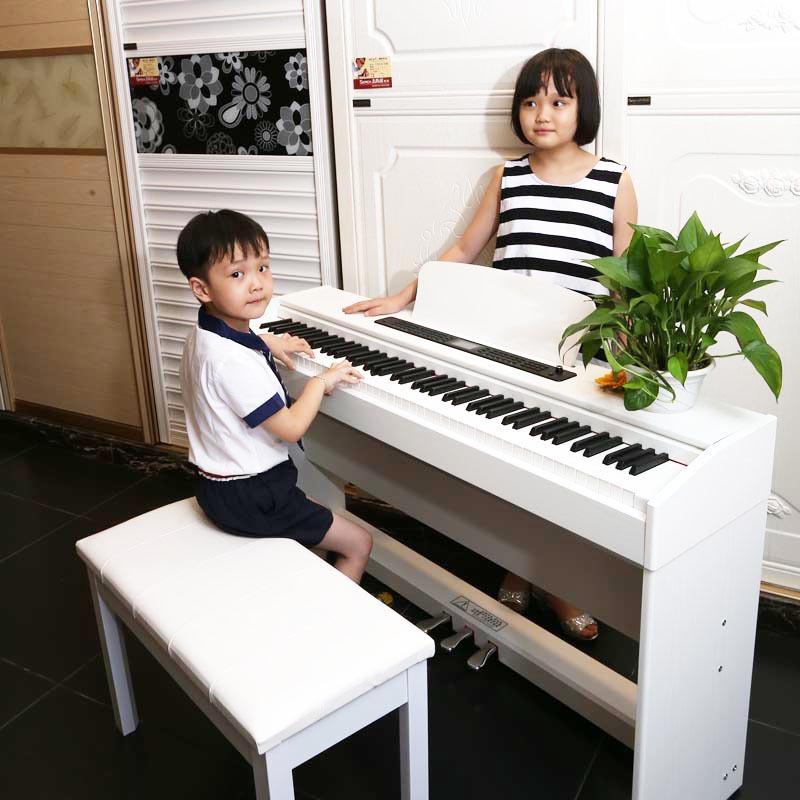 键重锤初学者考级专用琴行木纹款88数码电子钢琴大人电钢琴806