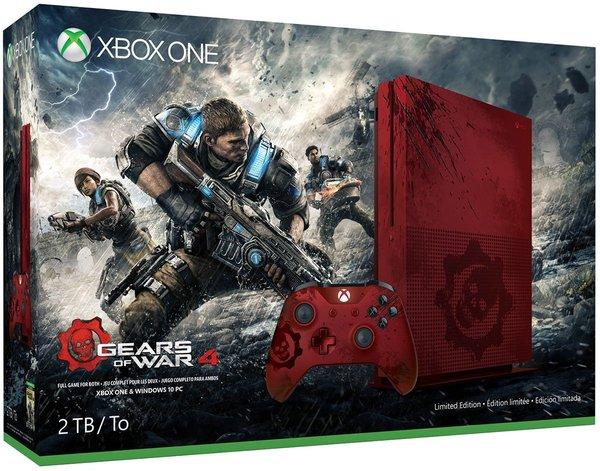 微软xboxone xbox one S 2TB战争机器4限定版 体感游戏主机