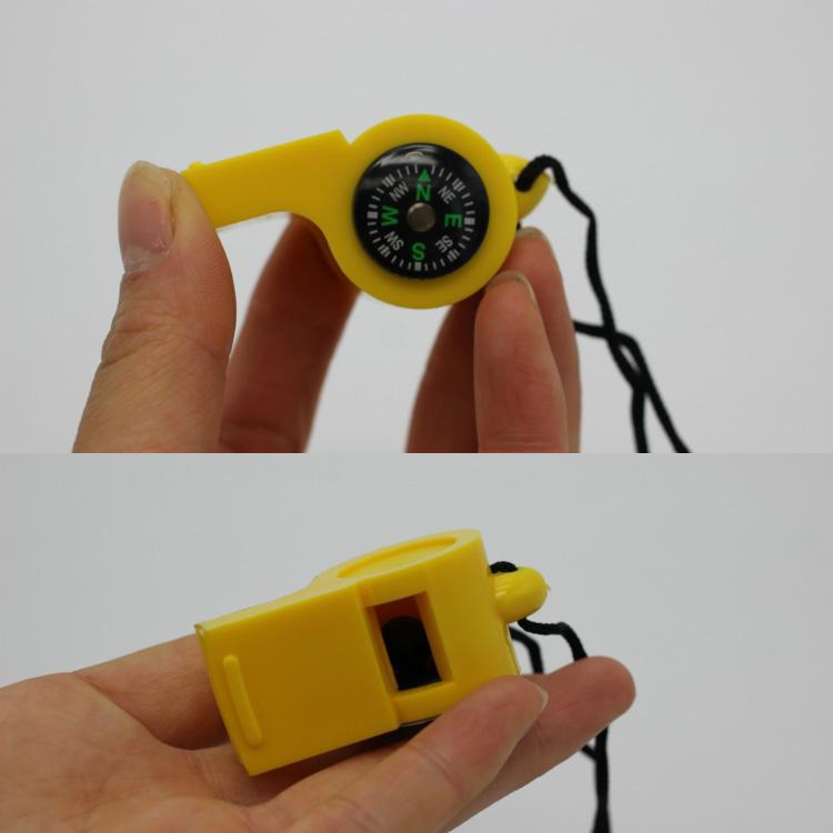 求生哨户外小哨子新款地震消防救生高频高音多功能指南针挂绳儿童