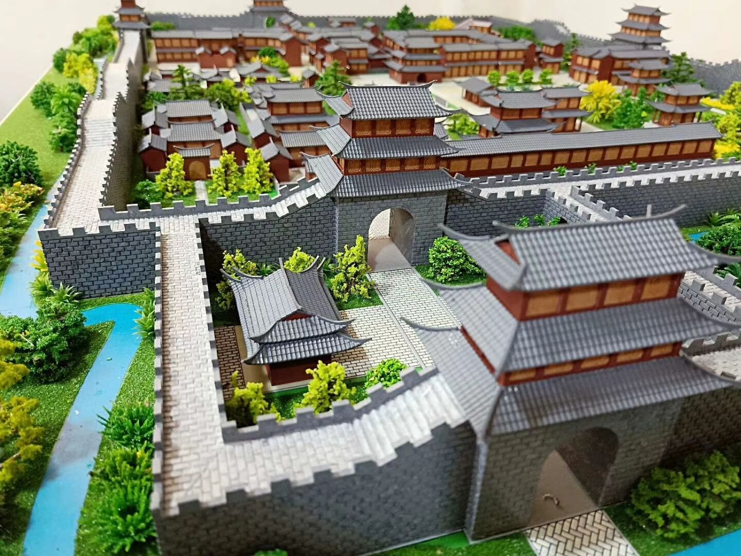 Ancient architecture topography sand table model scene mechanical industry intelligent sand table model customization