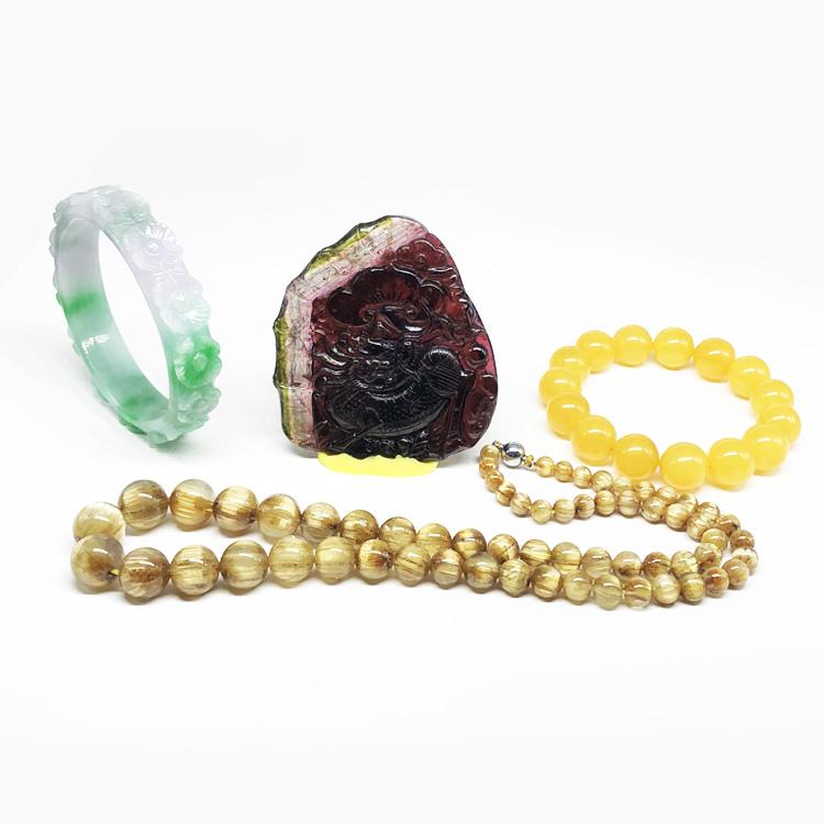 Природные кристалл-ювелирные изделия, протекающие лазурит синий Bao Biyu гранат порошок браслет подвеска серьги пчелиный воск 02
